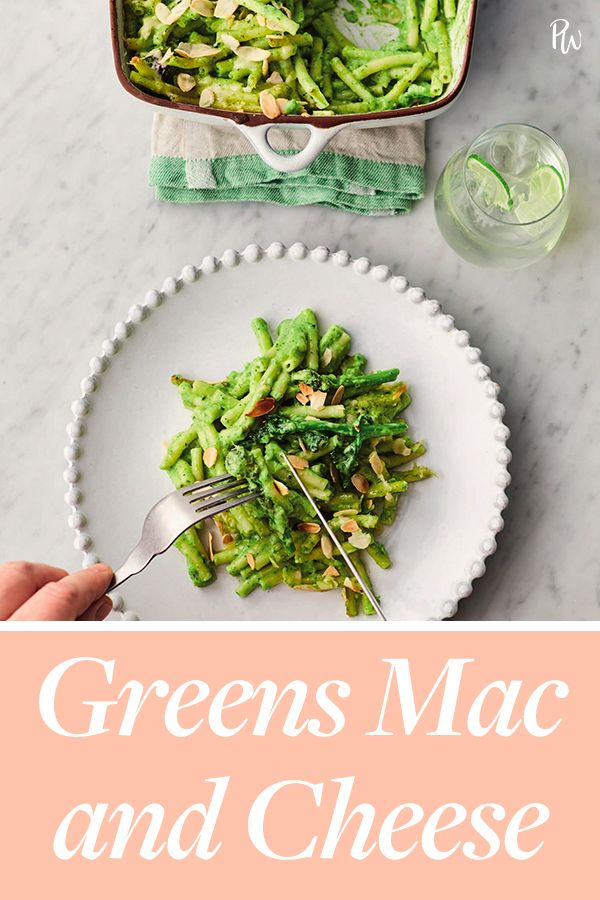 Greens Mac and Cheese #purewow #main course #pasta #easy #dinner #food #cooking #recipe #vegetarian #cheese #vegetable