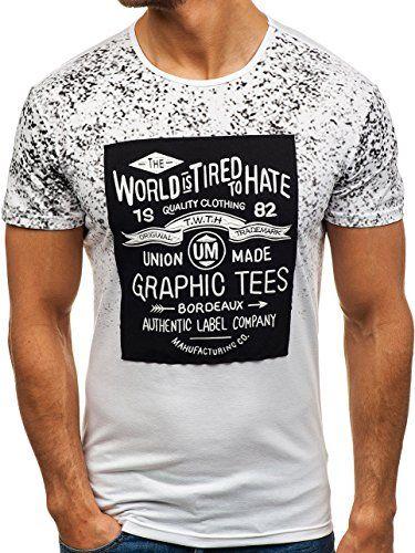 BOLF Hombre Camiseta De Manga Corta Estampada Escote Redondo 3C3 Motivo qOlEA1A4