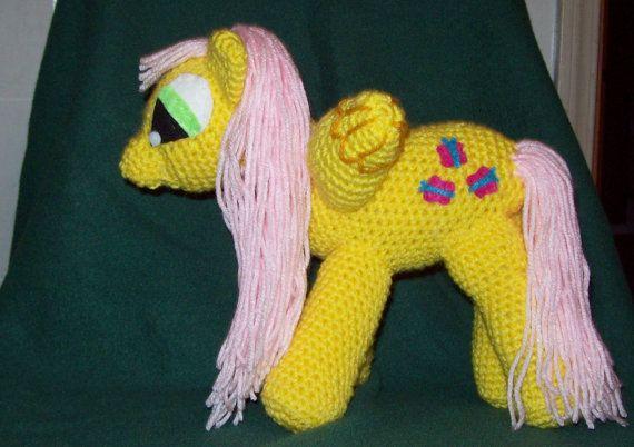 CIJ Sale Fluttershy Winged Crochet Pony  Inspired door amydscrochet