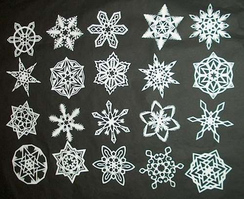 how to make 6 point paper snowflakes