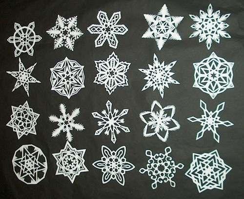 How To Make 6 Pointed Paper Snowflakes Bricolage Et Loisirs Creatifs Flocons De Neige En Papier Bricolages D Hiver