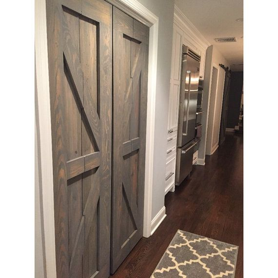 Introducing The Rustic Luxe British Brace Design Petite Set Of Doors Replace The Standard White Pantr Remodel Bedroom Sliding Pantry Doors Wood Doors Interior