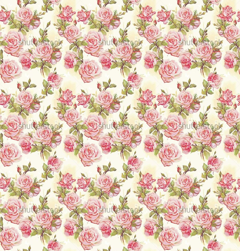 pink rose pattern wallpapers pattern flower vector