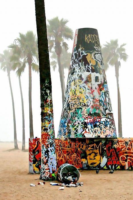 Venice Beach Pit By Art Block Collections Art Block Venice Beach Art