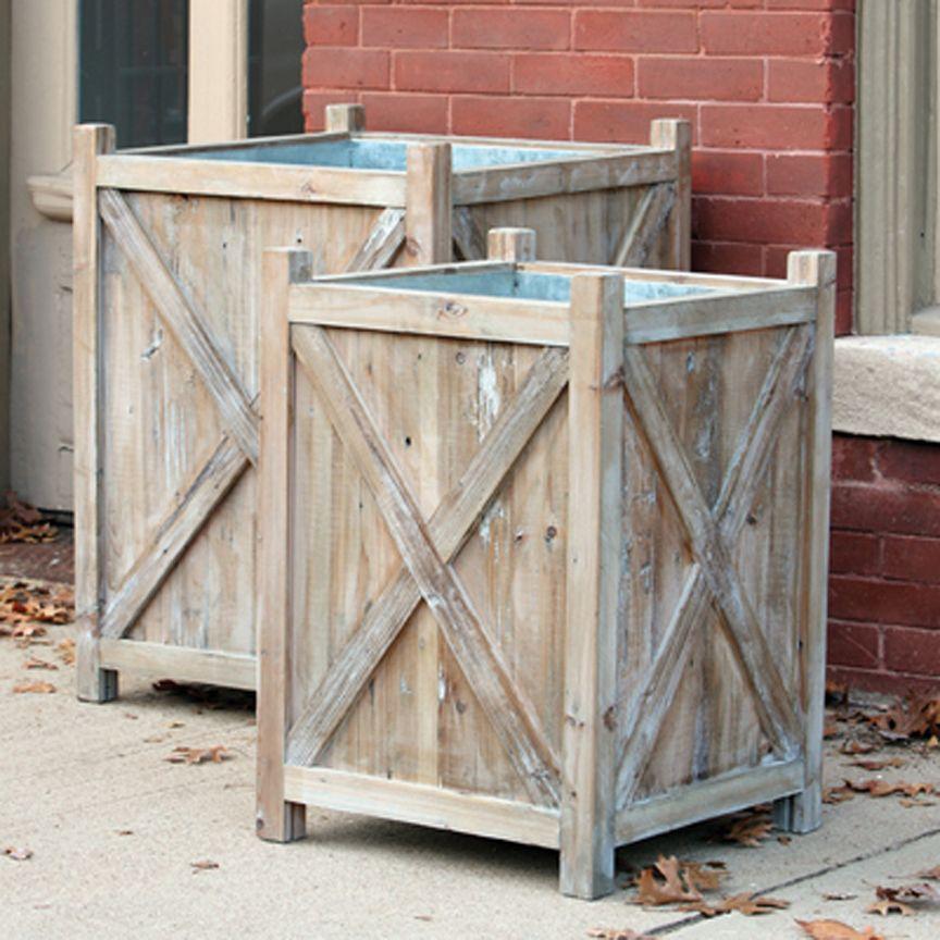 Orchard Planters Set 2 Wood Planters Planter Boxes Planters