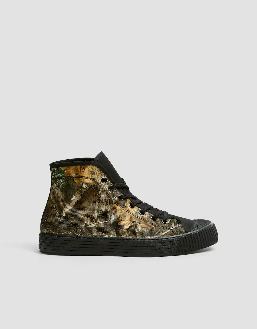 Botki Sportowe Real Tree Pull Bear High Tops Trainers Shoes