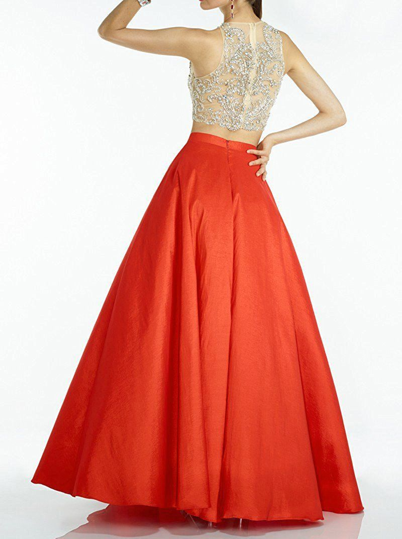 Momoai piece beaded bodice ball gown crystal prom party dresses