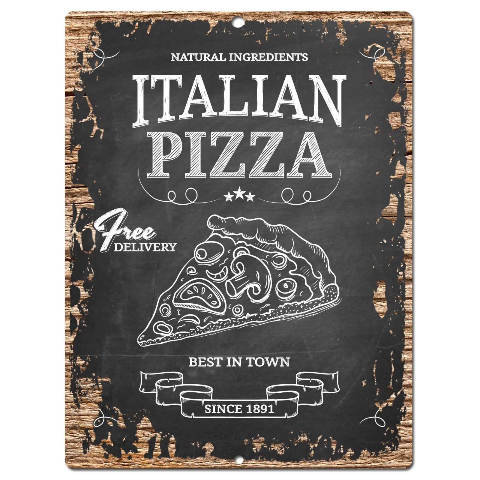 Pp0780 Vintage Italian Pizza Chic Plate Sign Home Shop Restaurant Cafe Decor Shabby Chic Painting Shabby Chic Diy Shabby Chic Room