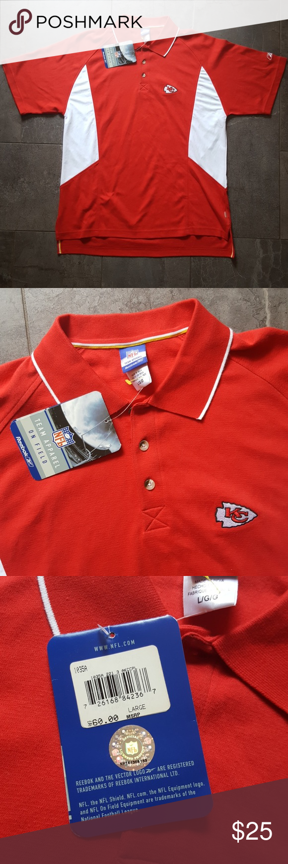 Nwt Mens Size Large Kansas City Chiefs Polo Nwt In 2018 My Posh