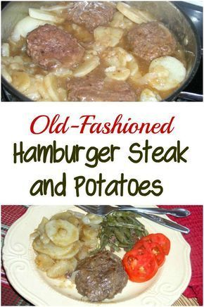 Old-Fashioned Hamburger Steak & Potatoes images
