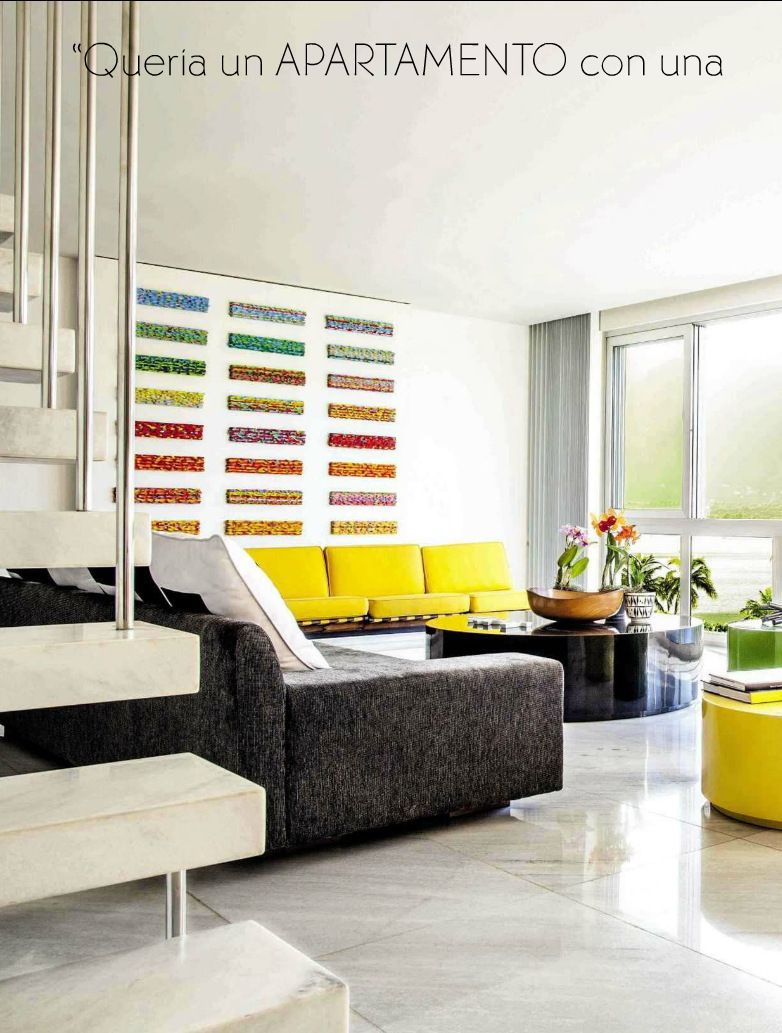 Mid Century Modern living room from AD Spain. Since the early 20th ...