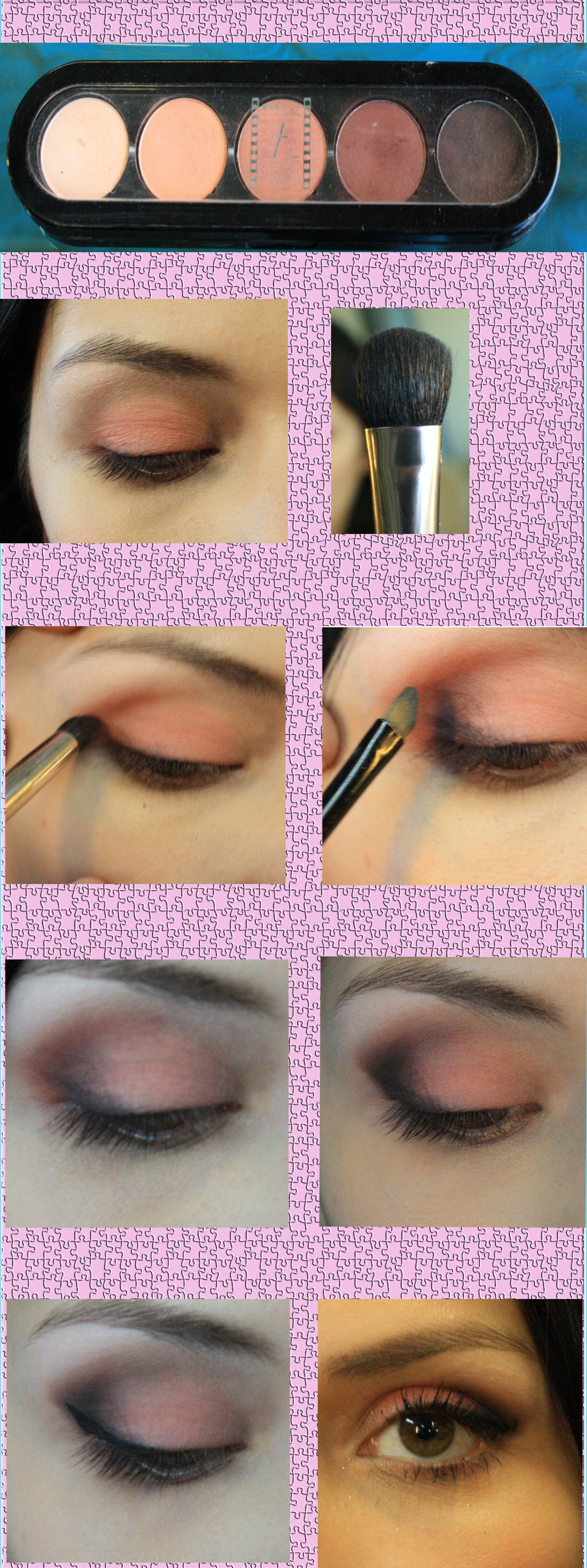 tutorial maquillaje de ojos naturales para eventos especiales sombras atelier maquillaje brochas