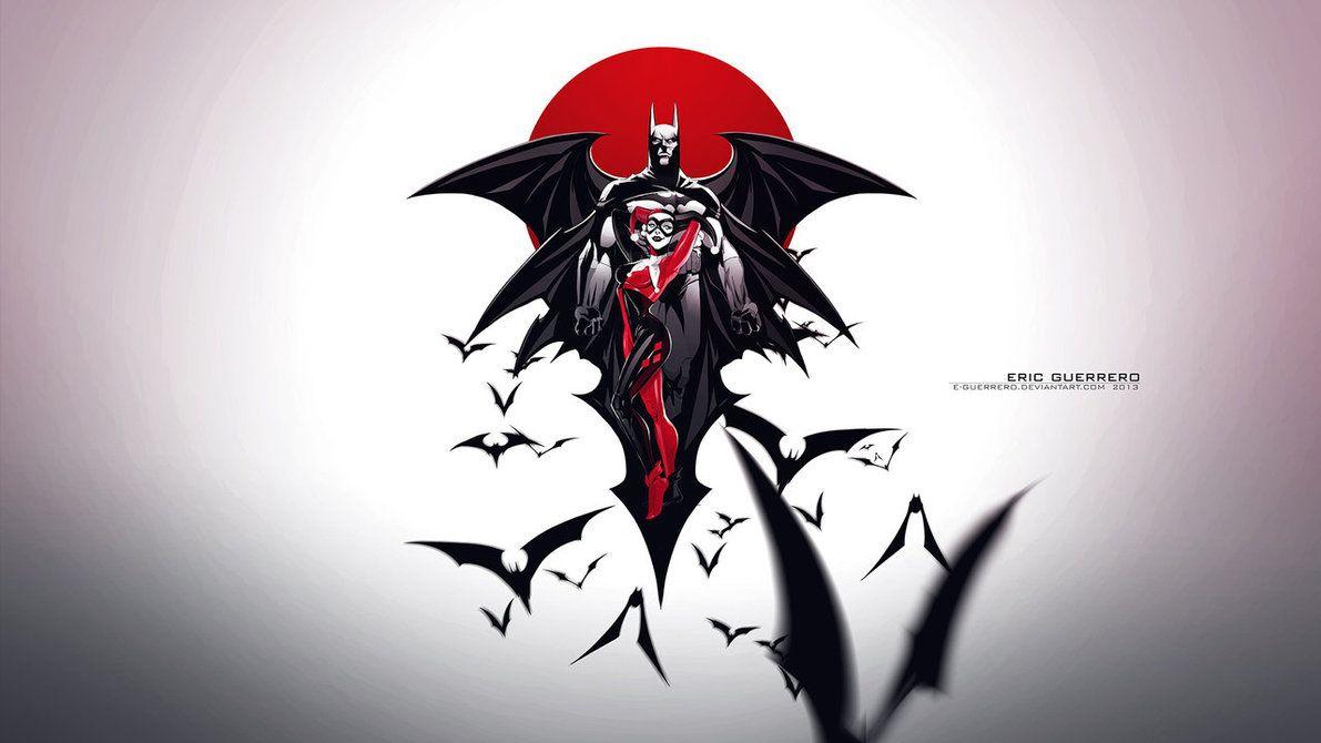 Batman Harley Wallpaper 1920x1080 By E Guerrero Batman Art