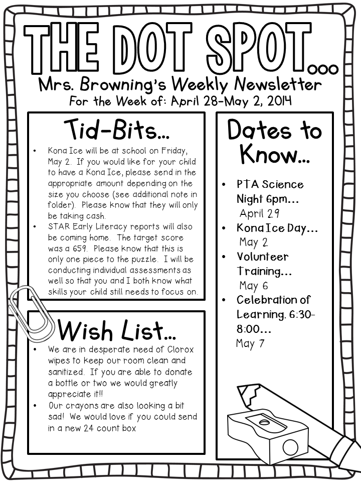 Editable Newsletter template | For School | Pinterest | Newsletter ...
