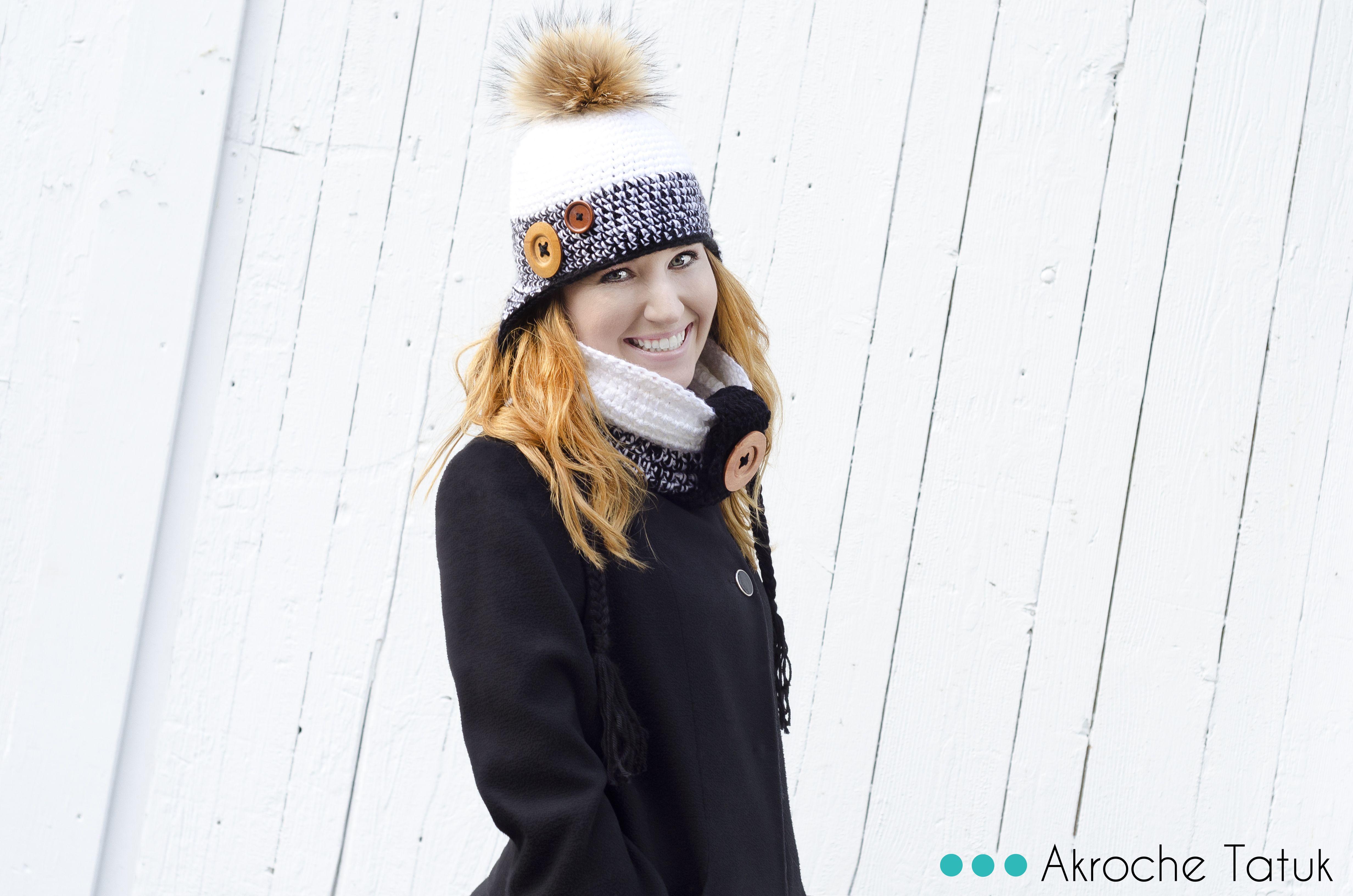 Crochet hat pattern with earflaps Tuque patron au crochet avec cache ...