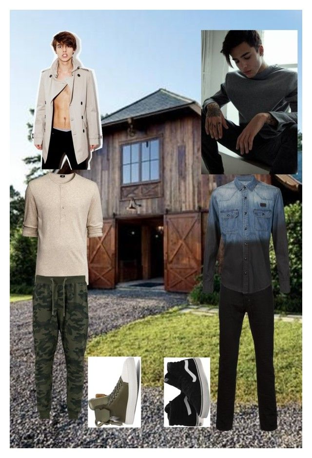 """""""Barn Party 2"""" by jadegale ❤ liked on Polyvore featuring BoohooMAN, BUSCEMI and Vans"""