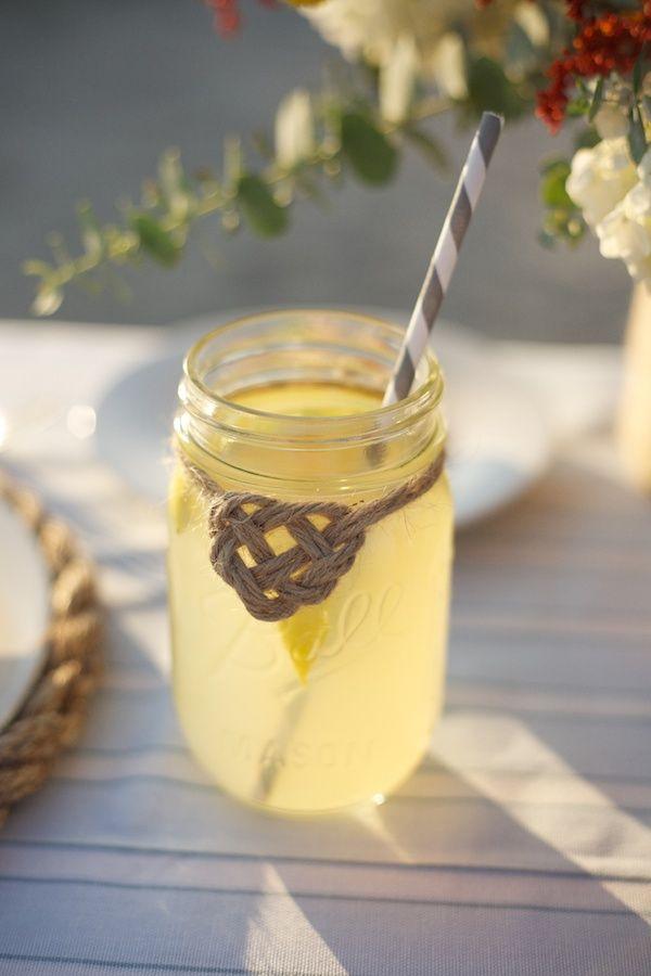 super cute nautical lemonade jar