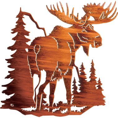 Moose Metal Wall Art From Cabela S Plasma Cutter