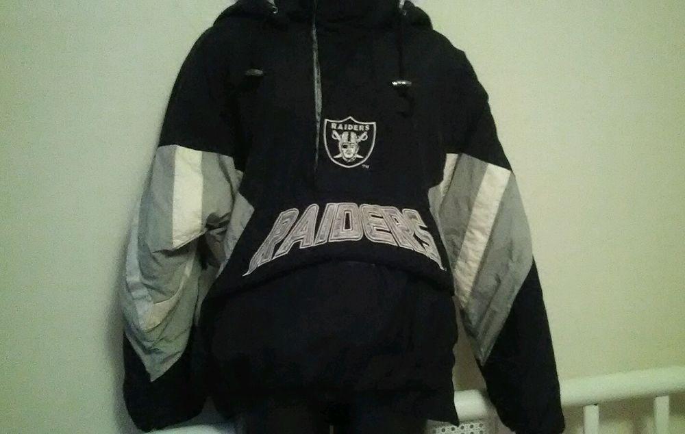 Vintage Oakland Raiders Starter Nfl Insulated Jacket Size Medium Black Starter Oaklandraiders Insulated Jackets Jackets How To Wear