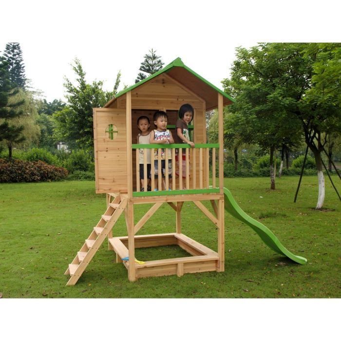 cabane de jardin en bois sur pilotis fanny 3 achat. Black Bedroom Furniture Sets. Home Design Ideas