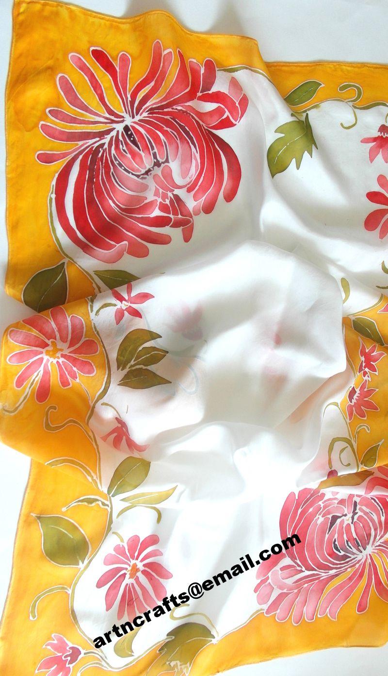 #Pure Silk Scarf - Design 002