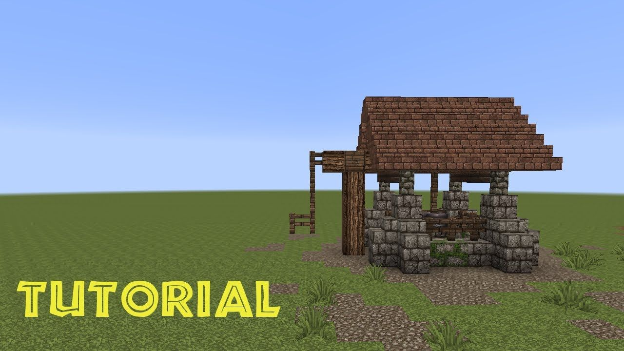 Minecraft tutorial einen brunnen bauen build a well for Minecraft haus bauen