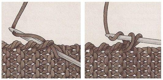 обвязка края крючком рачий шаг - Поиск в Google