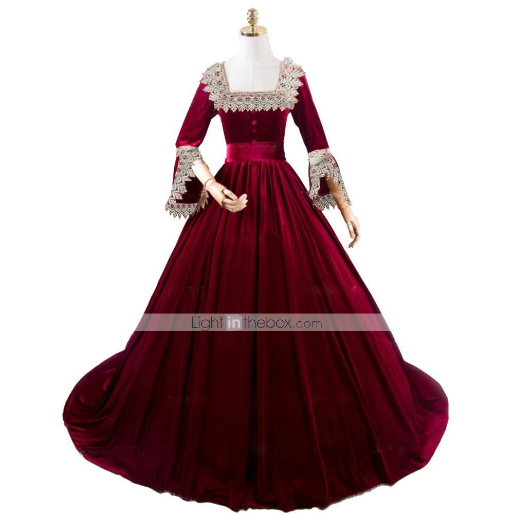 Princess Maria Antonietta Rococo Victorian Vacation Dress Dress Party Costume Costume Prom Dress Women S Cotton Costume Red Vintage Cosplay Masquerade Party E Dresses Plus Size Costumes Victorian Costume [ 1000 x 1000 Pixel ]