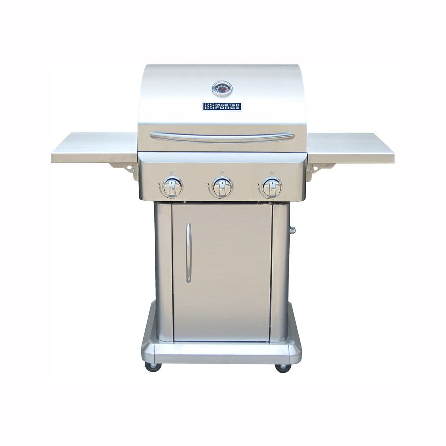 Shop Master Forge Outdoor Grill Stainless Steel 3 Burner 36 000 Btu Liquid Propane Gas Grill At Lowes Com Gas Grill Gas Grills On Sale Cool Kitchens