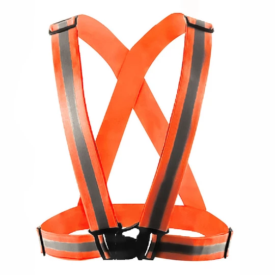 Green / Orange Security Safety Reflective Vest Luminous