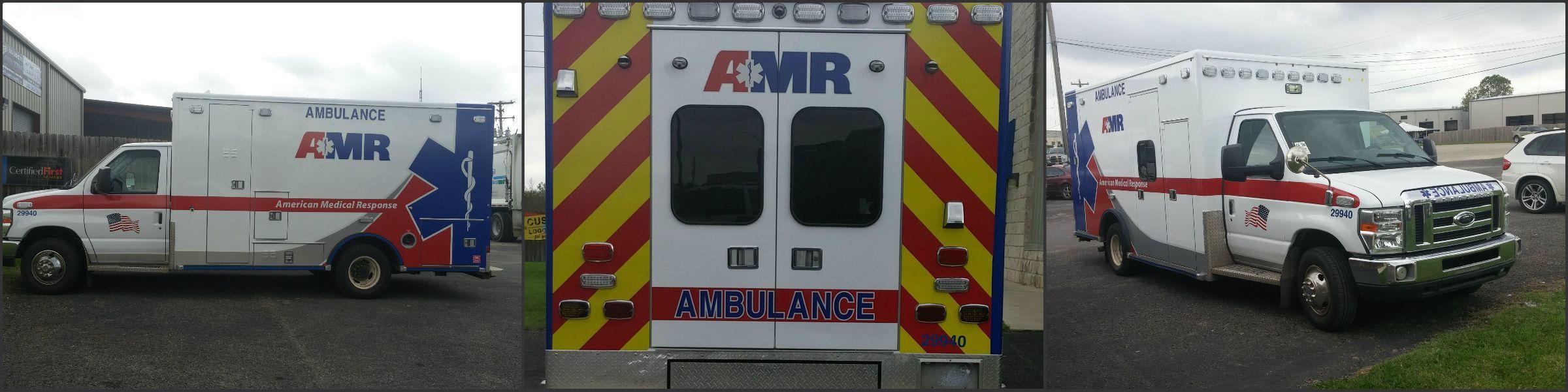 San Antonio all reflective decals on Box Ambulance