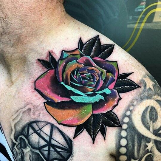 Colored Rose Tattoo Rose Tattoos Rose Tattoos For Men Tattoos