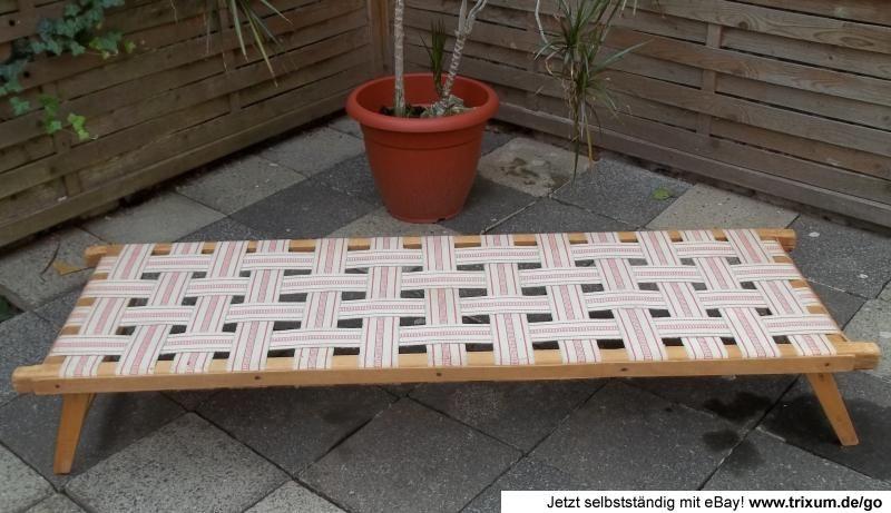 Klappliege Holz.Ddr Kinderliege Kindergarten Kinderbett Liege Holz Bett