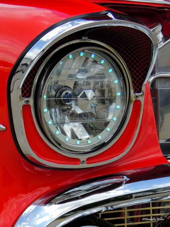 57 Chevy Headlight Classic Car Decor Home Decor Car By Hershellias