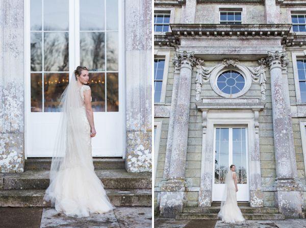 Stylish Elegant Isle Of Wight Winter Wedding With A Yolan Cris Dress