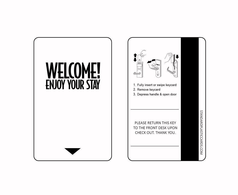 Custom generic key cards custom hotel key