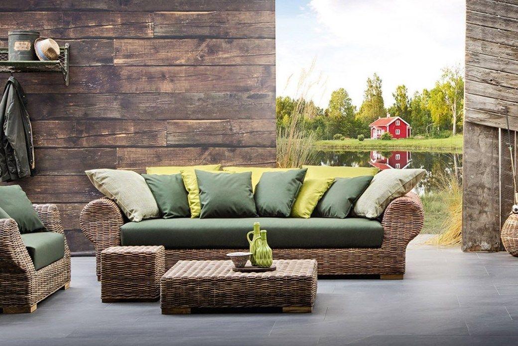 CROCO   Divano Lineare in Rattan Intrecciato #rattan #sofa ...