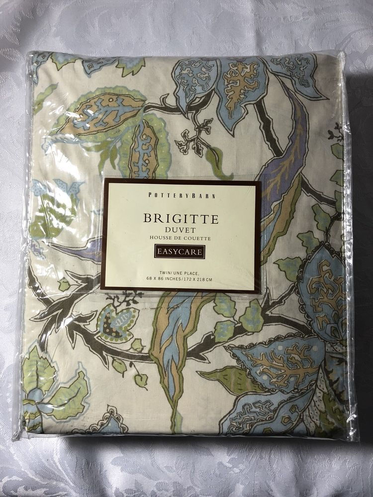 Pottery Barn Brigitte Duvet Housse De Couette Twin New