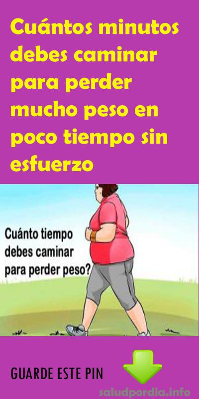 ejercicio para bajar de peso caminar