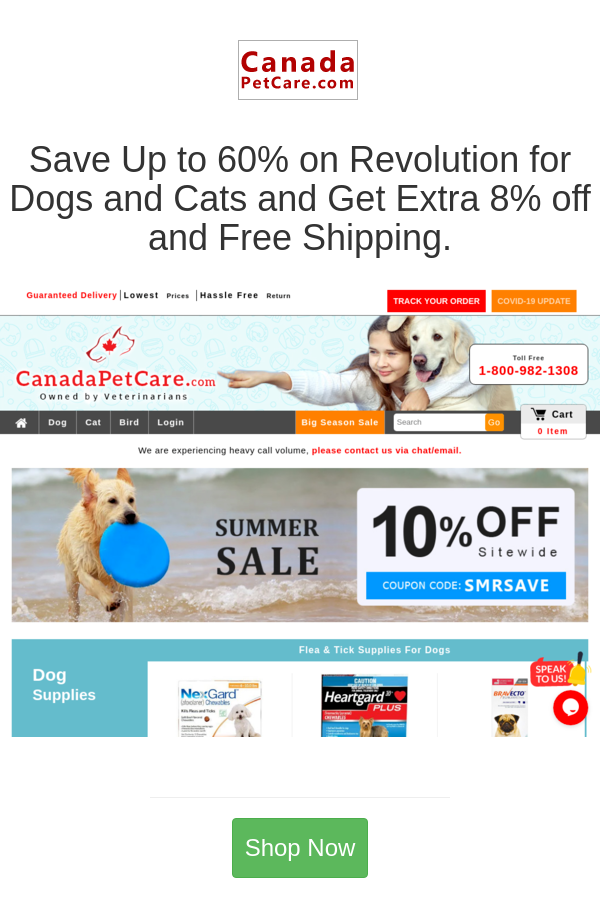 Best Deals And Coupons For Canada Pet Care In 2020 Pet Care Pets Revolution Dog