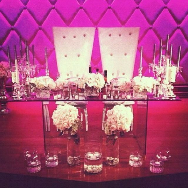 bride groom chairs with glass table love white pink