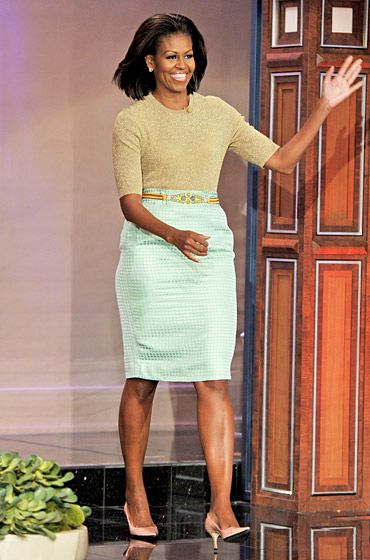"""Michelle Obama """"I have to wear what I love,"""" the First Lady has said. """"I have to feel good in it. My day-to-day wardrobe choices are very pr..."""