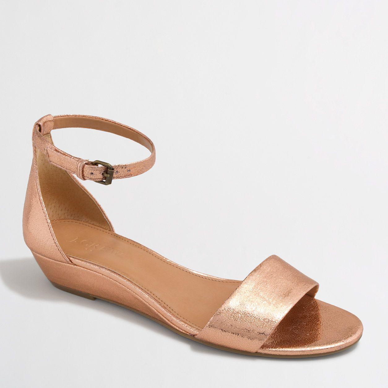 e26e3bf4b9f Factory crackle demi-wedge sandals   Sandals