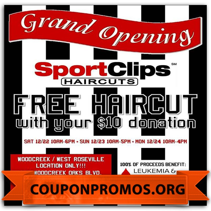Sports Clips Coupon September 2017 (FREE HAIRCUT) (With