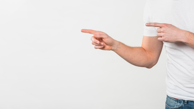 Close Up Of A Man S Hand Pointing Her Two Fingers Isolated On White Backdrop Pointing Hand White Backdrop Hands