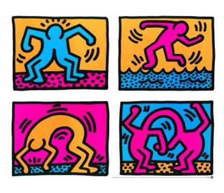 keith haring 10 oeuvres d art contemporain c l bres et incontournables art marketing artdeco. Black Bedroom Furniture Sets. Home Design Ideas