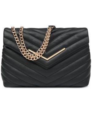 f417523ff88 Nine West Jazlyn Shoulder Bag - Black Gold