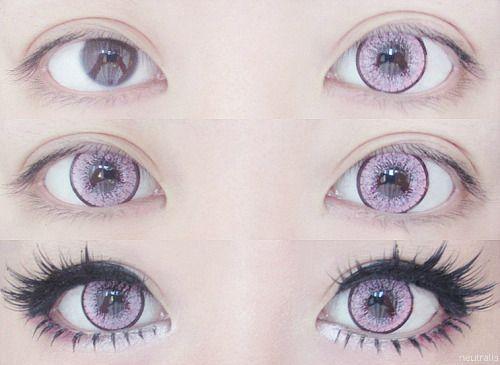 Circle Lenses Pinky Paradise Purple Pink Eyes Cosplay Tutorials