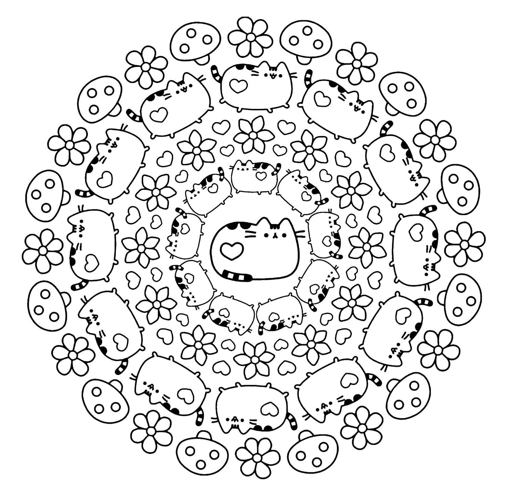 12 Limitee Coloriage Kawaii Chat Images Kleurplaten Tekenen