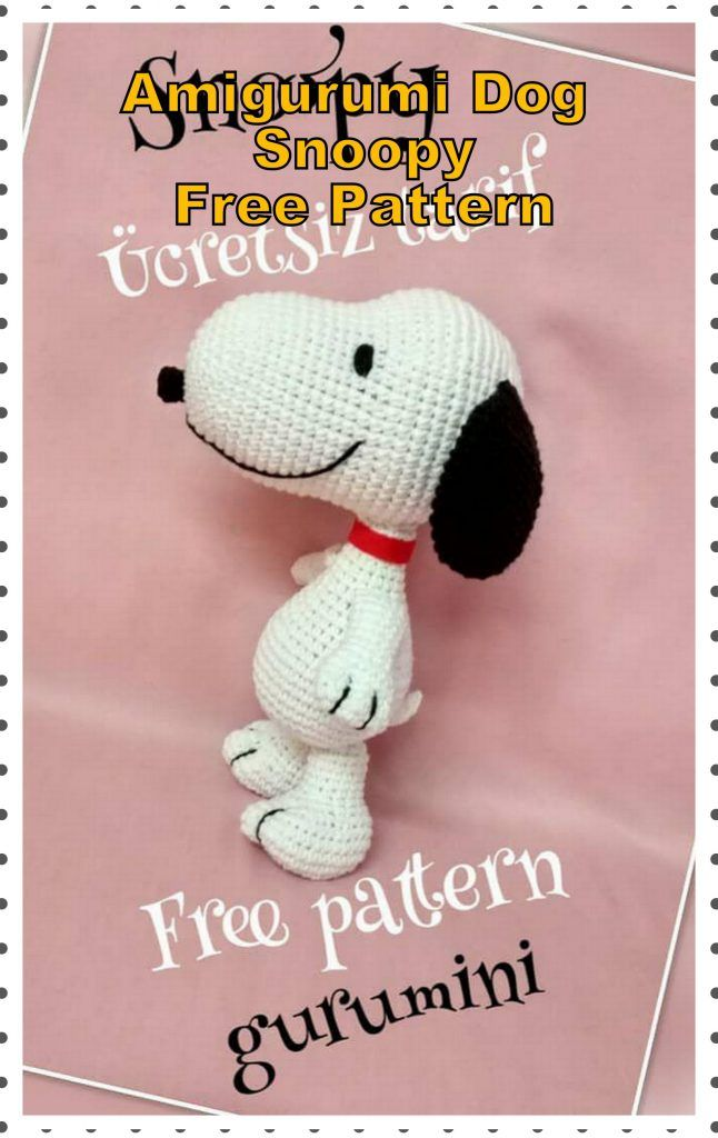 Amigurumi Dog Snoopy Free Crochet Pattern - Amigurumi Patterns #crochetamigurumifreepatterns